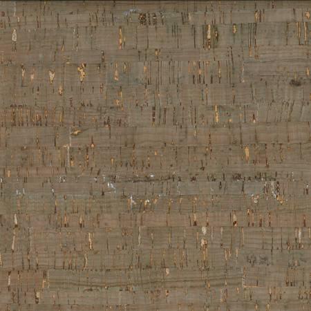 Cork Fabric 18x15  Green/Silver Metallic