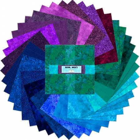 10in Squares Essential Gems Royal Nights 42pcs