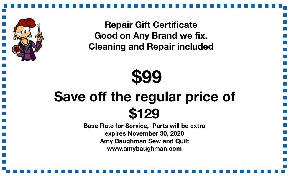 Repair Gift Certificate