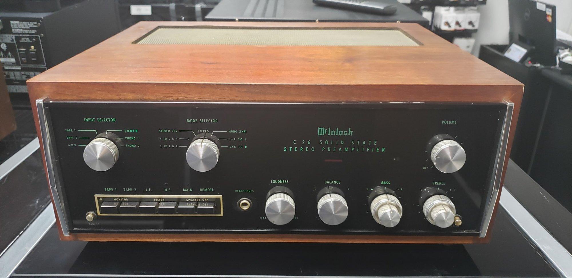 McIntosh C26 Pre Amplifier
