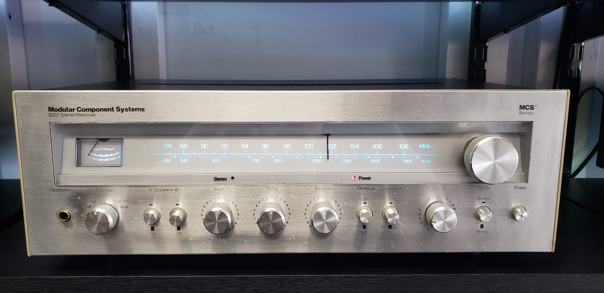 Modular Component Systems 3207 Stereo receiver (7 watts/ channel)
