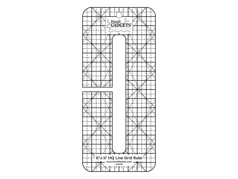 HQ Line Grid Ruler 6 x 1/4