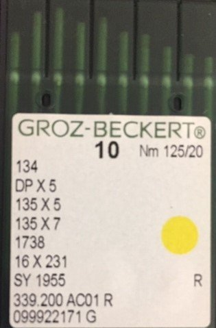 Groz-Beckert Quilting needles size 20/125