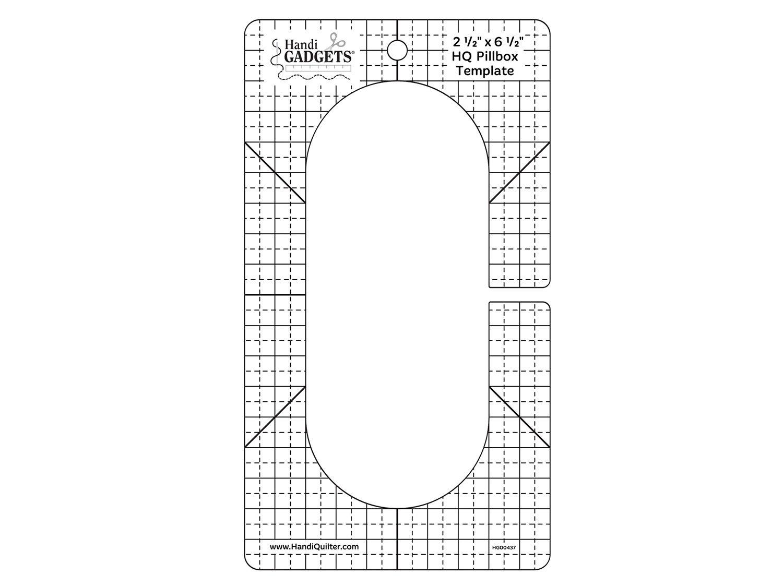 HQ Pillbox Template  2 1/2 x 6 1/2