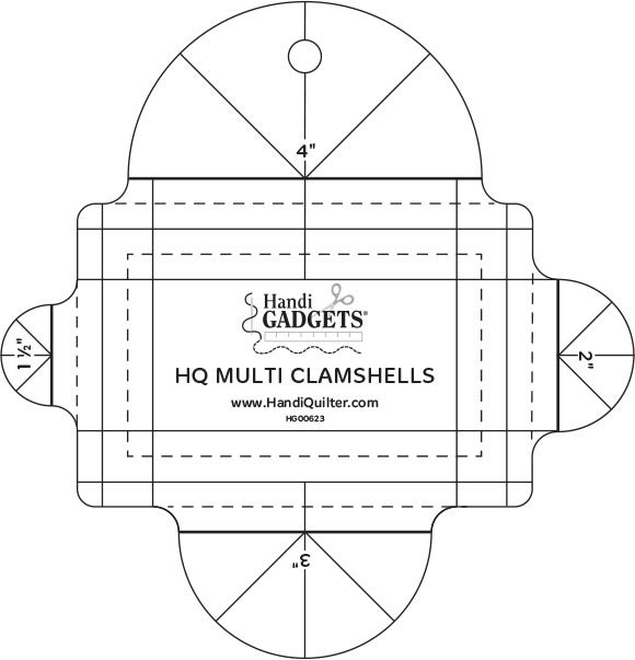 Multi Clam Shell Template 1-1/2in to 4in