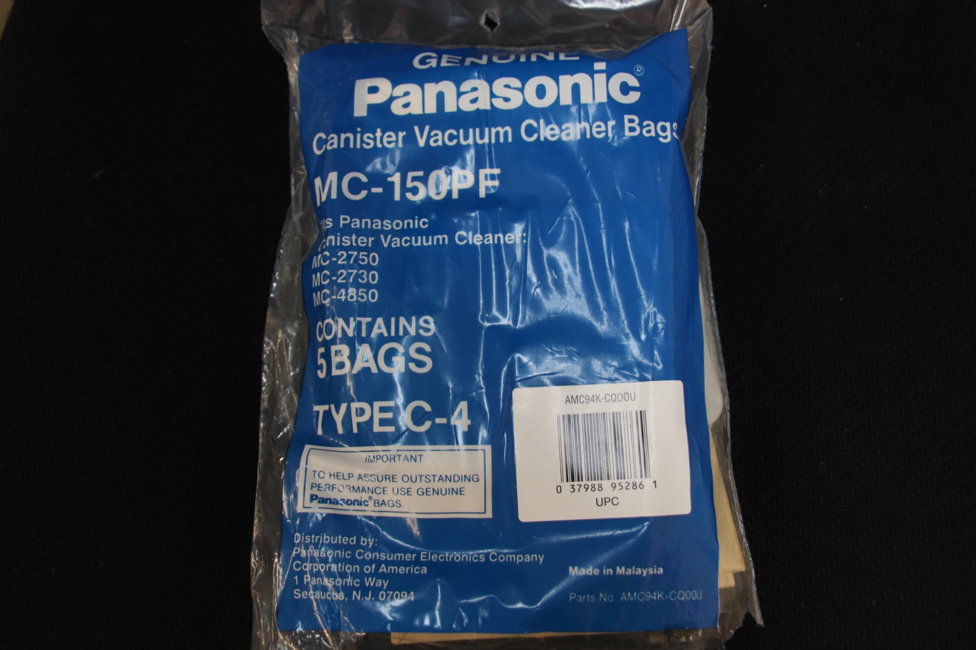 Genuine Panasonic Canister Vacuum cleaner MC-150PF