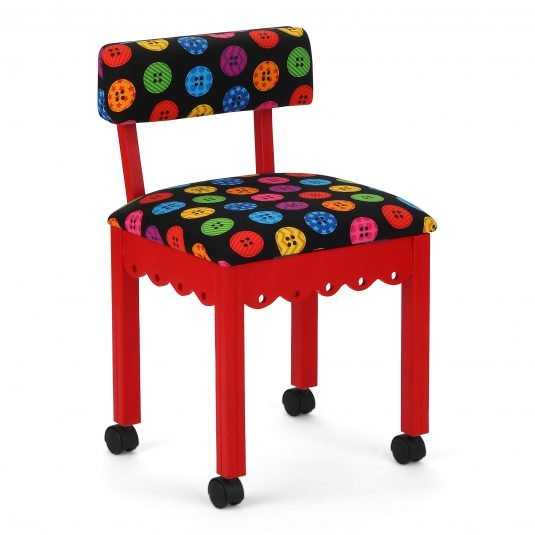 Arrow chair Red Button fabric