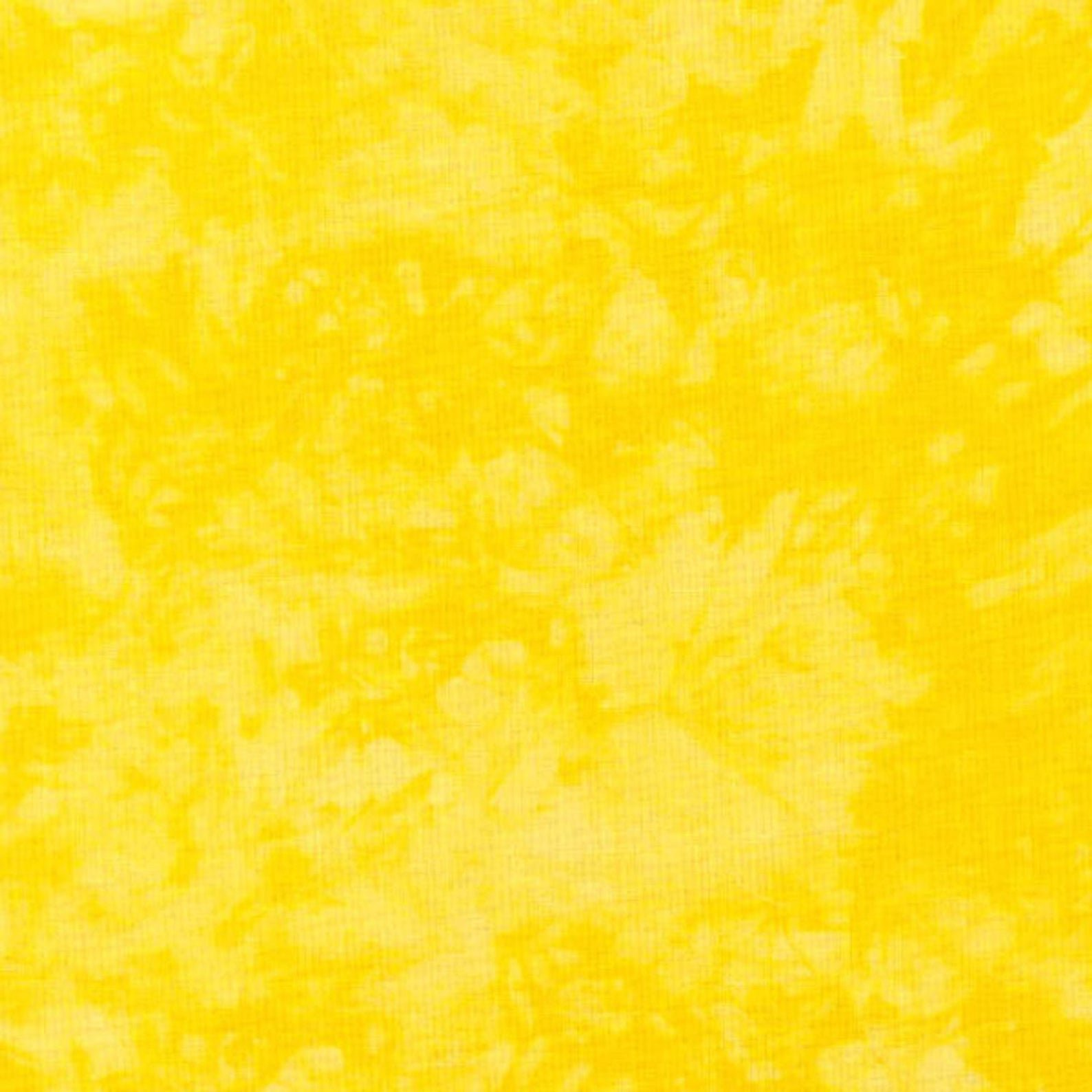 RJR quilters cotton  Hand Spray yellow 42 wide