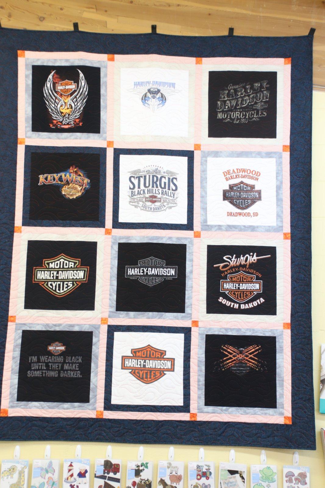 Harley Davidson T-Shirt quilt lapsize 68x88