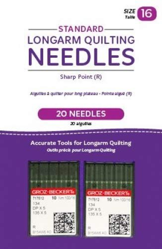 Standard longarm quilting needles size 16 (2) pack