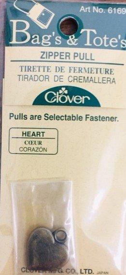 Bag's & Tote's zipper pull Heart