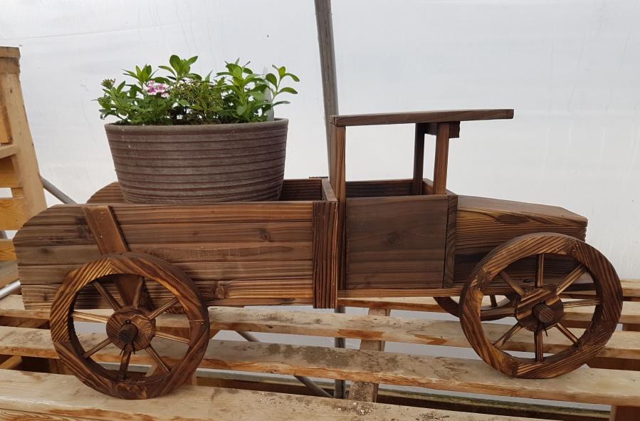 Wooden Truck Planter - 38