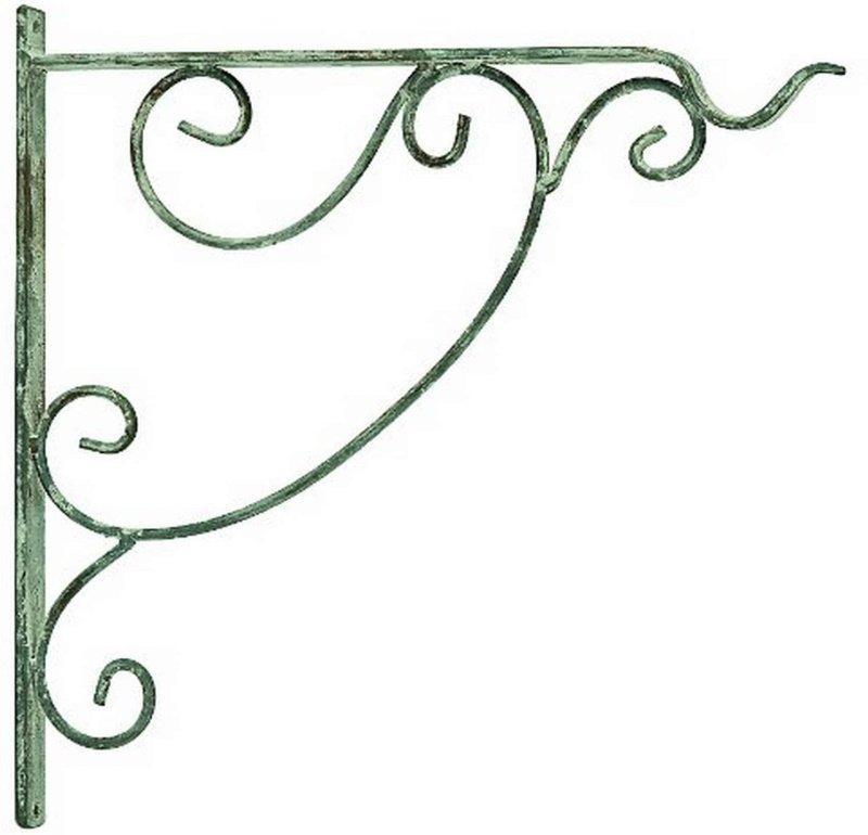Bracket for Hanging Plant  - Antique White - 13 - Filigree motif