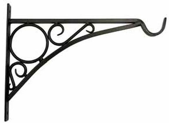 Bracket for hanging plants - 14 arm - Black