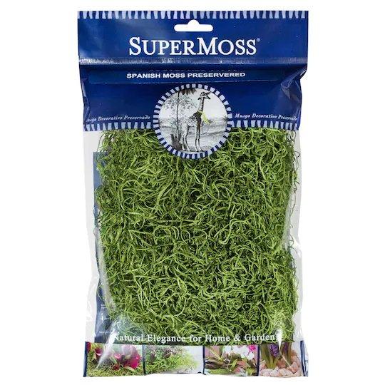 Super Moss - Preserved Spanish Moss - Grass Green