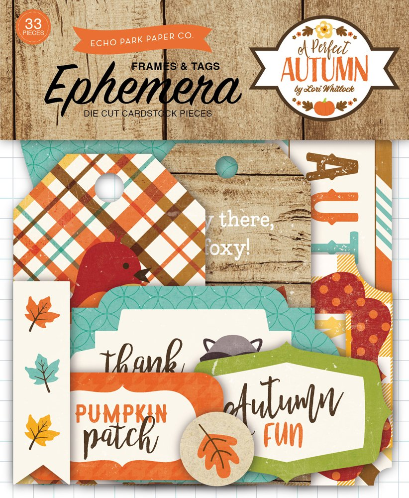 A Perfect Autumn Echo Park Frames & Tags 33 pieces