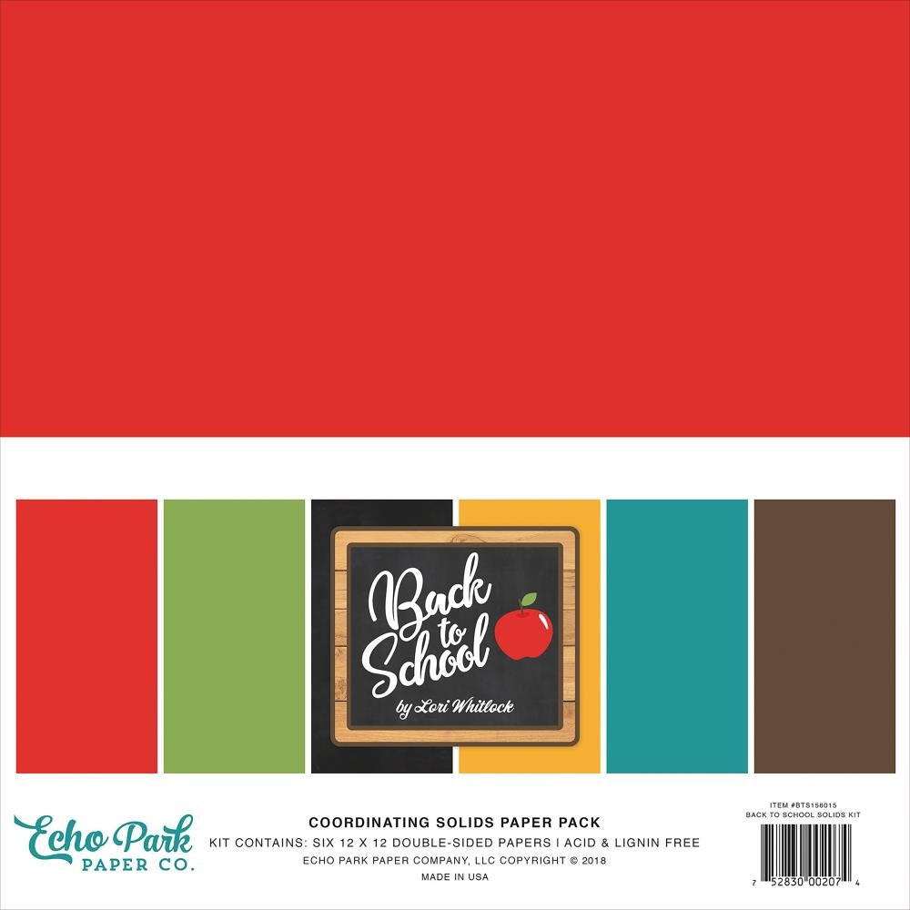 Back to School Coordinating Solids Echo Park 12x12