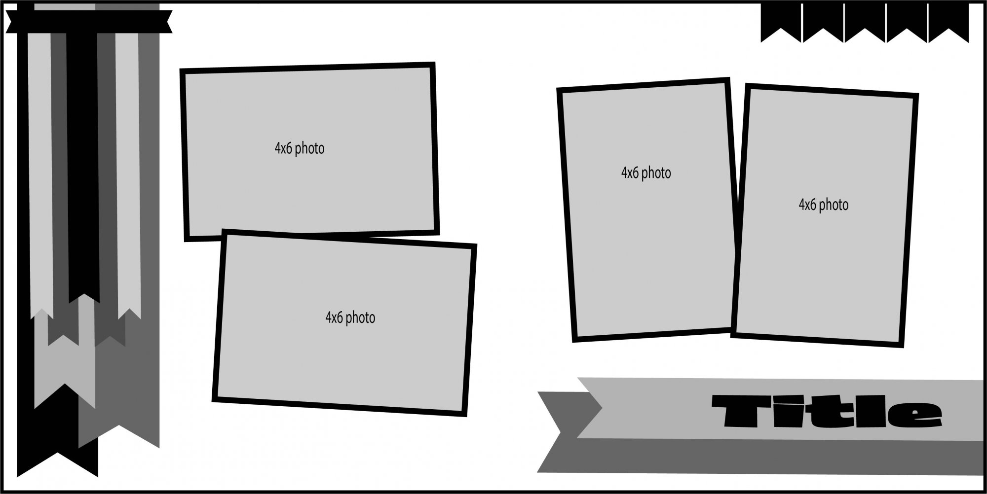 Banners Layout 2 - Layout Pieces Digital Download