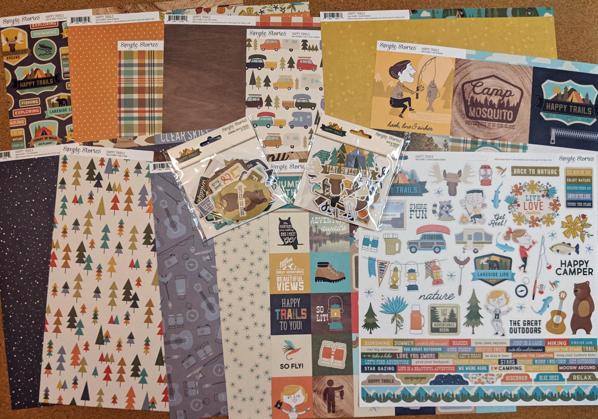 Happy Trails 12x12 Paper Kit - Simple Stories
