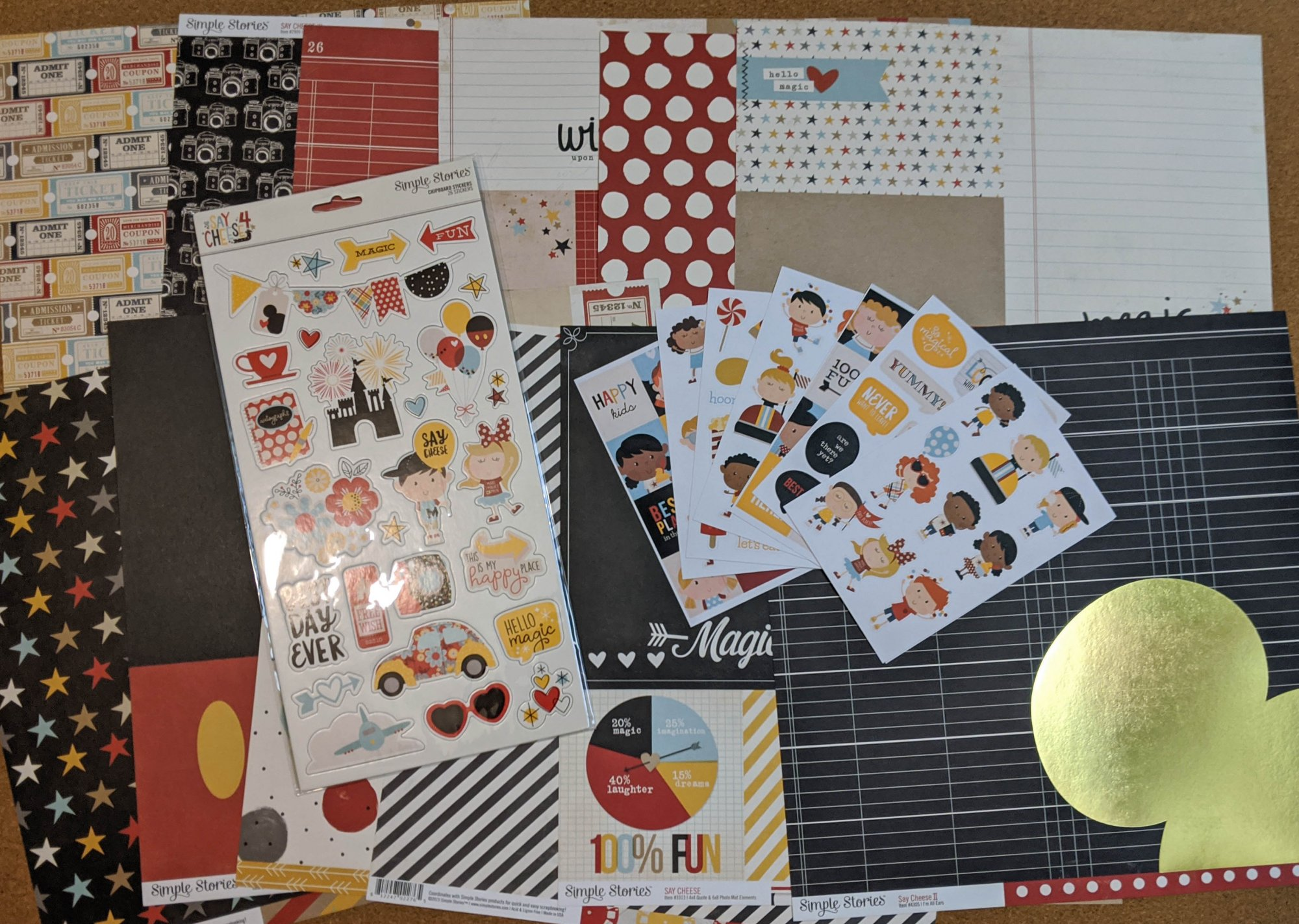 Say Cheese 12x12 Paper Kit with Embellishments - Simple Stories