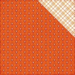 The Story of Fall - Orange Leaf 12x12 Patterned Paper Echo Park