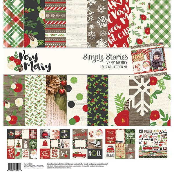 Very Merry Collection Simple Stories Collection Kit 12x12