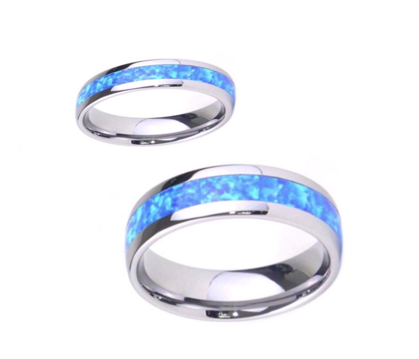 Opal Tungsten Ring