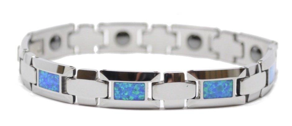 Opal Link Tungsten Bracelet  (10mm Wide)