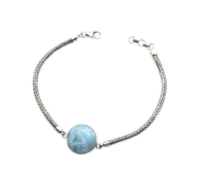 Brac > Larimar Single Stone Bracelet