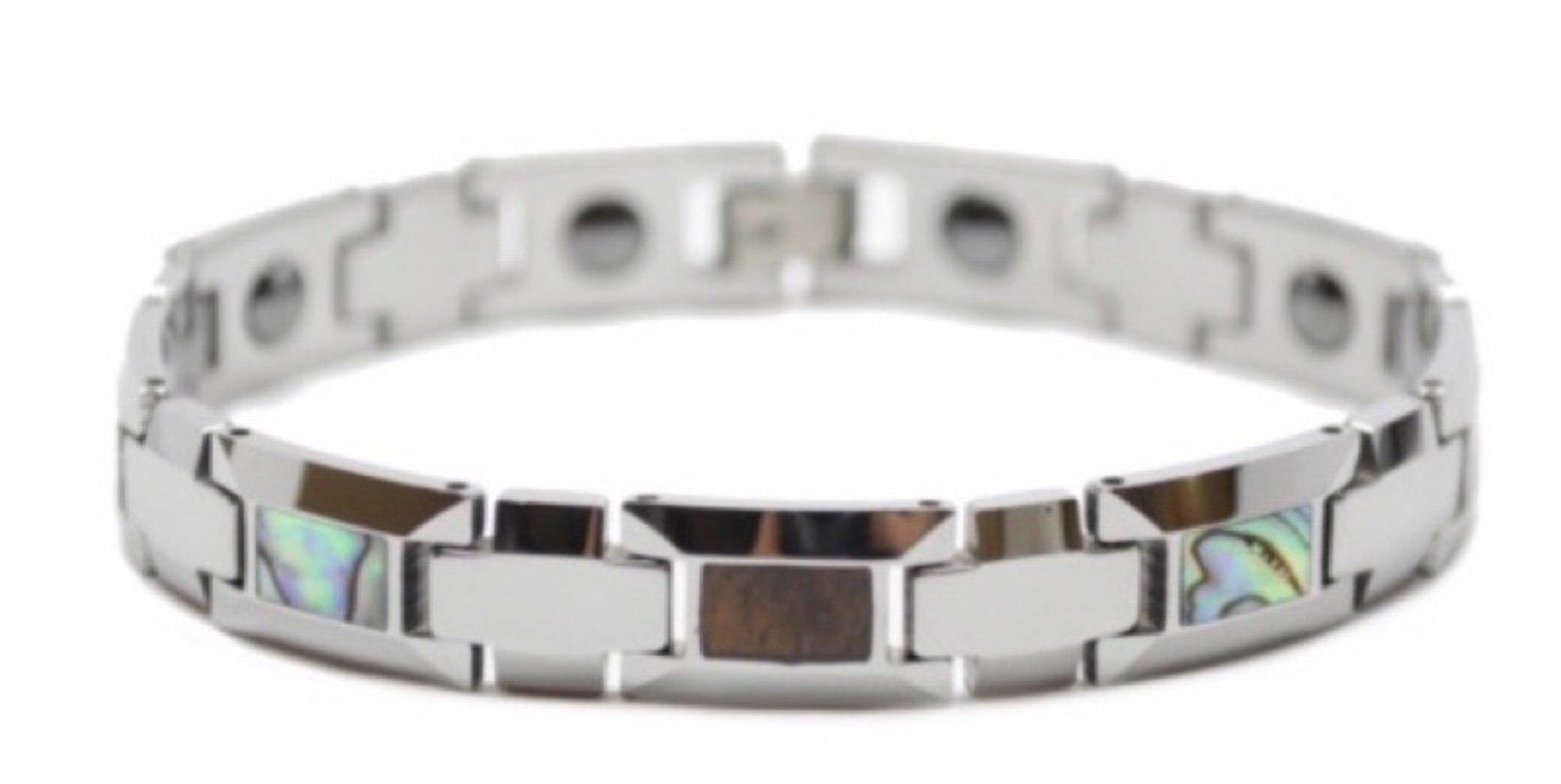 Koa Wood & Abalone Paua Tungsten Bracelet  (10mm Wide)