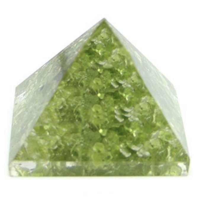 Rock > Peridot Nugget Chip Stones in Pyramid