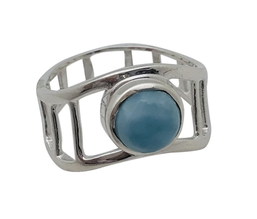 Larimar Oval Stone Ring