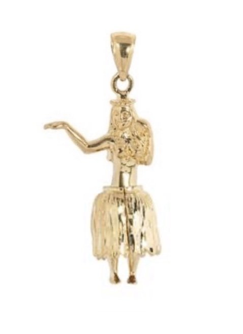 Gold Pend > Hula Girl Pendant (medium)