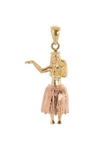 Gold Pend > Hula Girl Pendant (small)