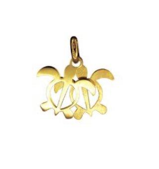 Gold Pend > Turtle Best Friends Pendant