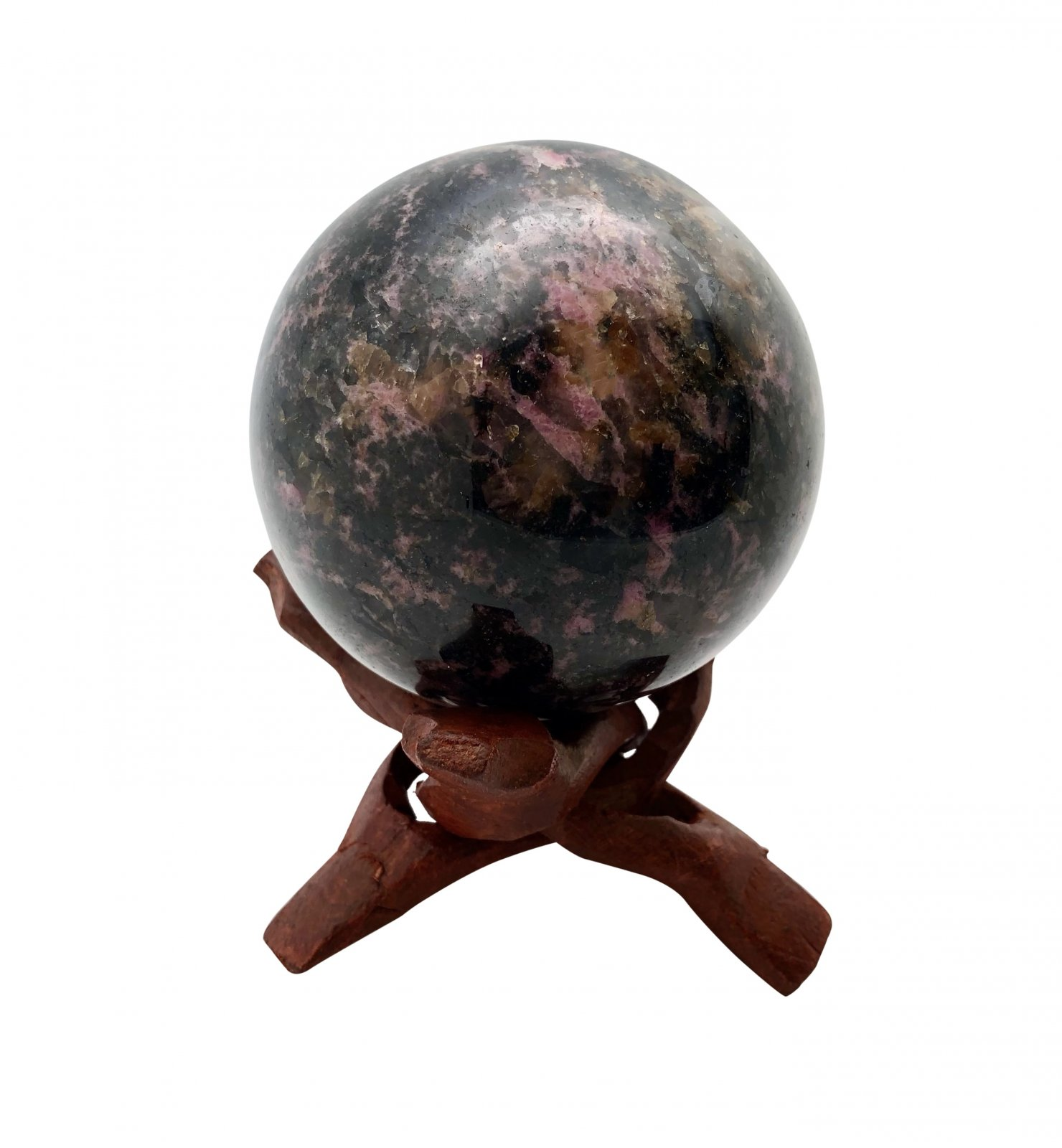 "Rock > Rhodonite ""Eagle Stone"" Sphere Shape Stone"
