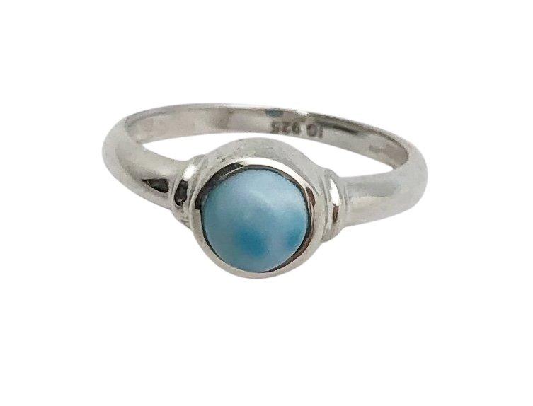 Larimar Round Stone Ring