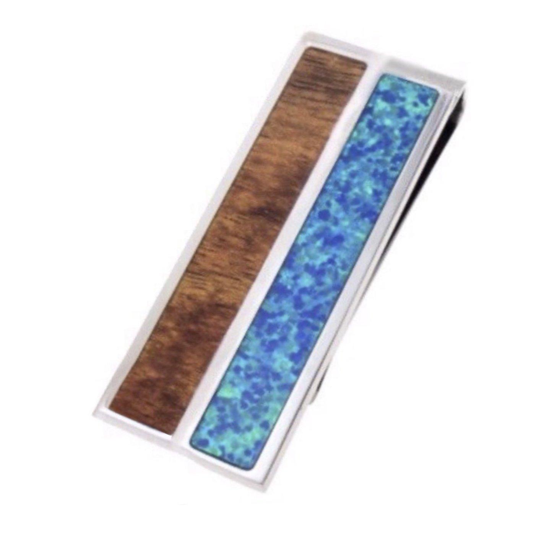 Koa Wood Opal Money Clip