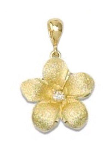 Gold Pend > Plumeria Pendant (15mm)