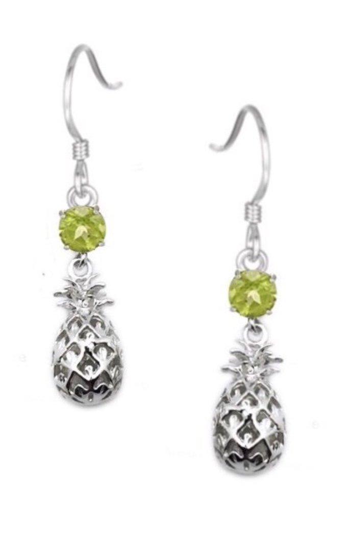 Ear > Pineapple w/Peridot Dangle Earring