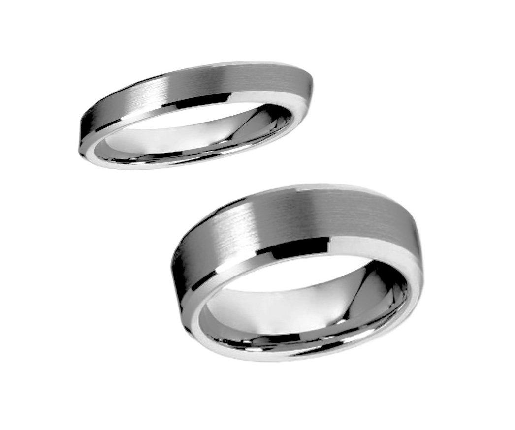 GunMetal Satin Finish Tungsten Ring