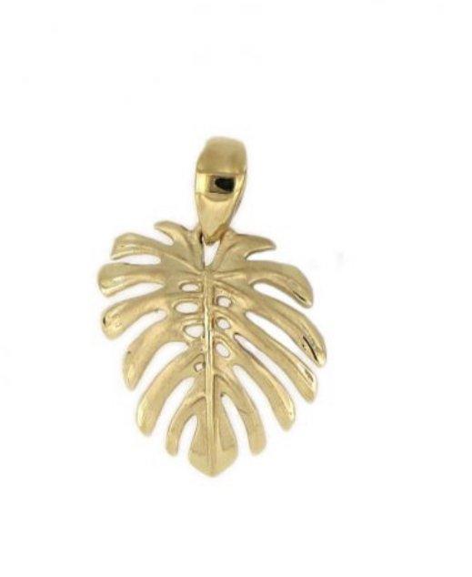 Gold Pend > Monstera Leaf  Pendant