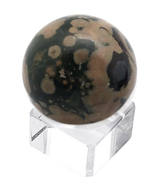 Rock > Rhyolite Sphere with Crystal Stand