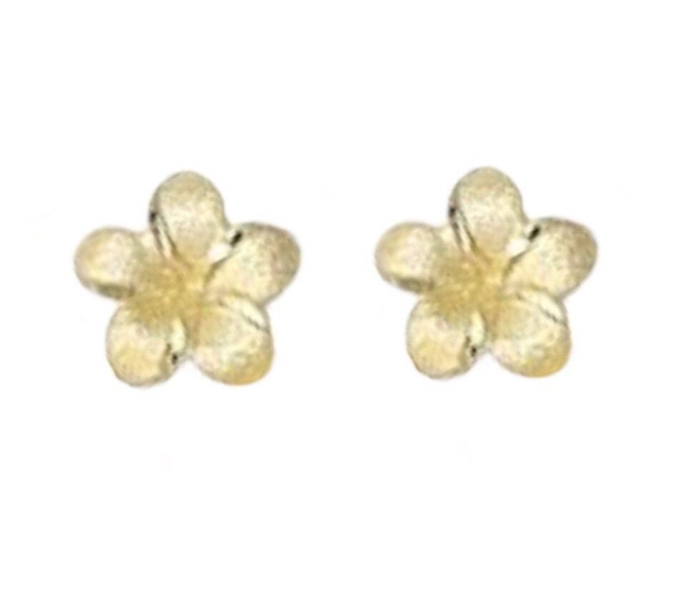 Gold Ear > Plumeria Post Earring (7mm)