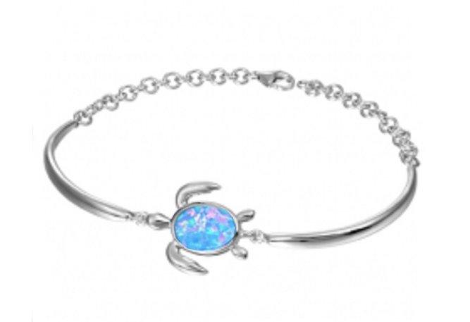 Brac > Opal Turtle with White Topaz Bracelet