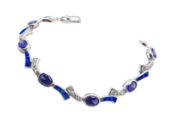 Opal with Amethyst Bracelet