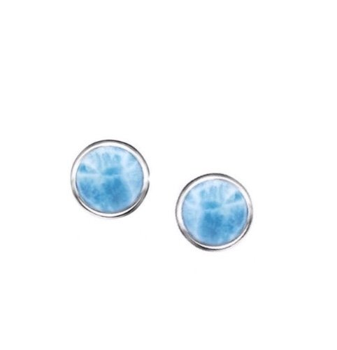 Ear > Larimar Small Round Post Earring (6mm)