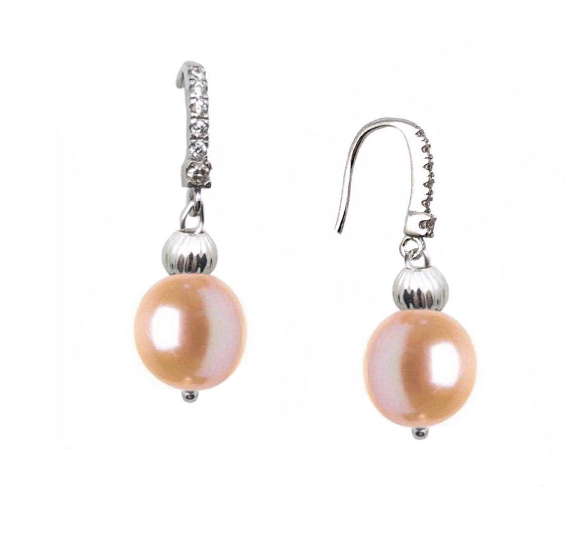 Ear > Pearl Dangle Peach Earring