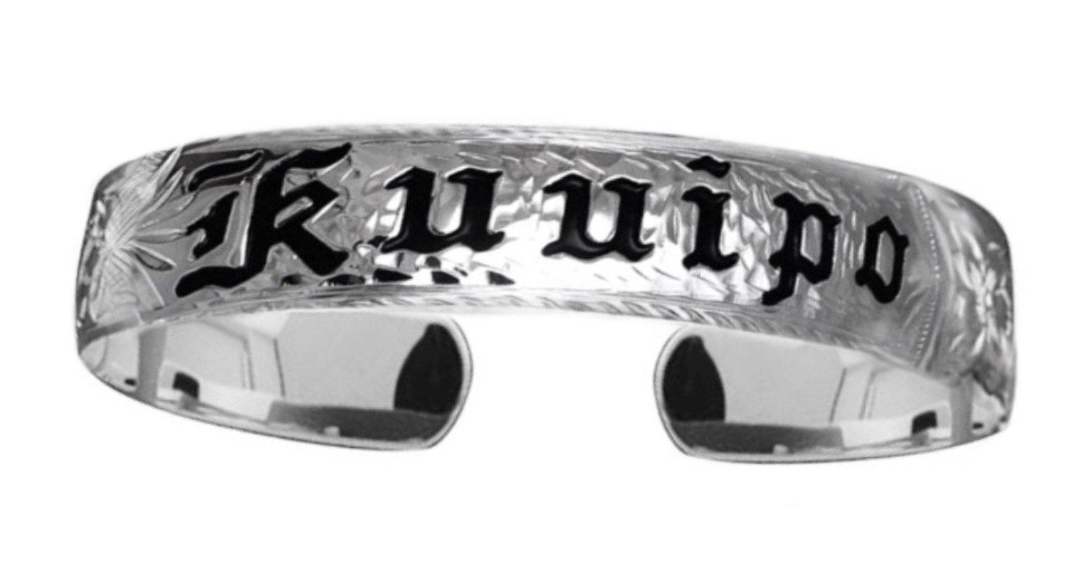 Hawaiian Cuff Bracelet   </p> Kuuipo My Sweetheart Queen Scroll  <p>(Widths Available: 6mm - 18mm)