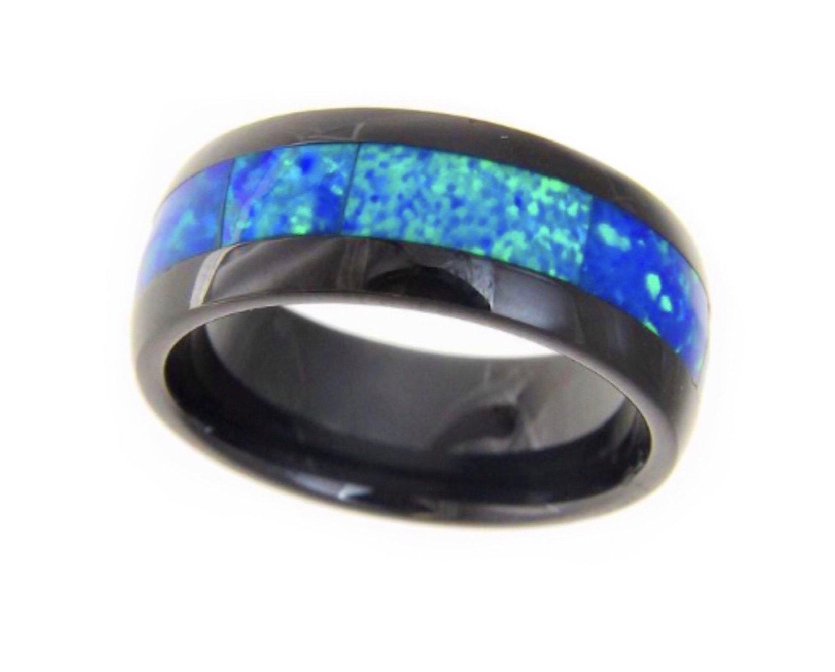 Opal Black Ceramic Ring